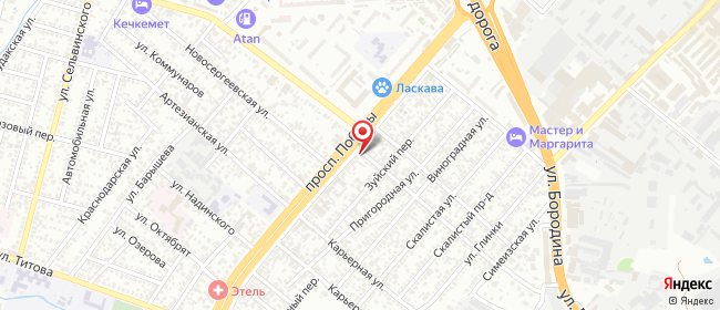 Карта расположения пункта доставки Симферополь Победы в городе Симферополь