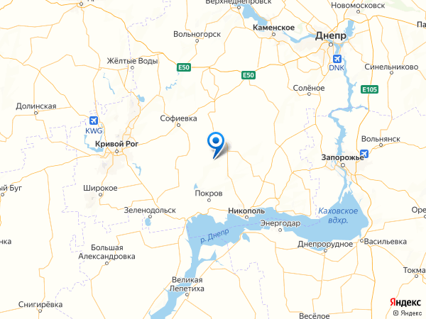 село Крутой Берег на карте