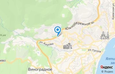 Местоположение на карте пункта техосмотра по адресу Респ Крым, г Ялта, ул Красных Партизан, д 21