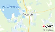 Гостиницы города Пушной на карте
