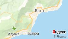 Гостиницы города Ливадия на карте