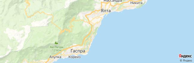Ливадия на карте