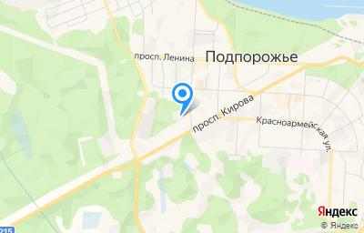 Местоположение на карте пункта техосмотра по адресу Ленинградская обл, г Подпорожье, ул Комсомольская, д 18
