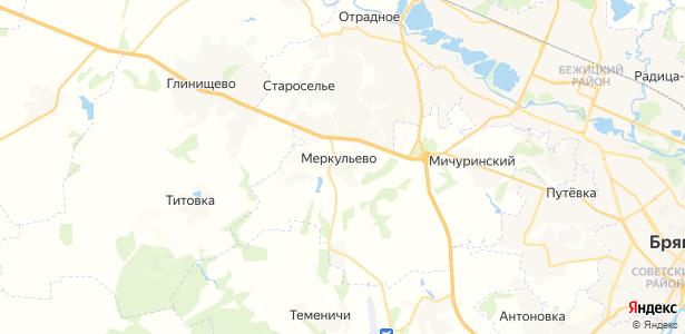 Меркульево на карте