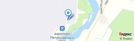 Петрозаводск на карте Бесовца
