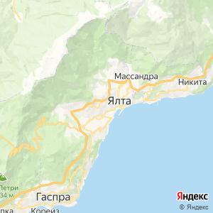 Карта города Ялты
