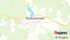 Отели города Кувшиново на карте