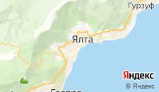 Гостиницы города Ялта на карте