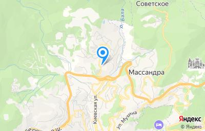 Местоположение на карте пункта техосмотра по адресу Респ Крым, г Ялта, ул Репина, д 1А