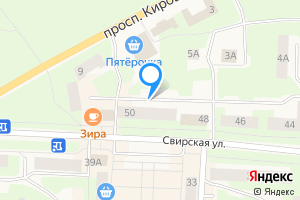 Однокомнатная квартира в Подпорожье Свирская улица, 50