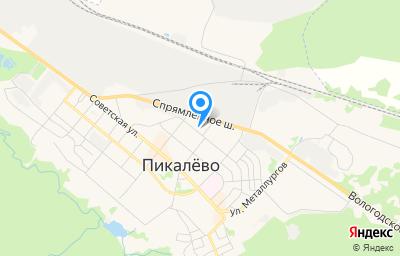 Местоположение на карте пункта техосмотра по адресу Ленинградская обл, Бокситогорский р-н, г Пикалево, ул Строительная, д 9А