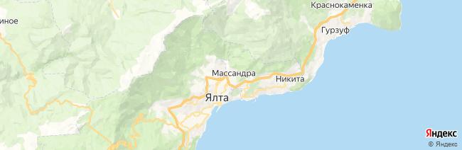 Массандра на карте