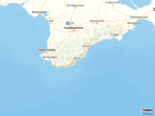 поселок городского типа Советское на карте