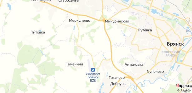 Елисеевичи на карте