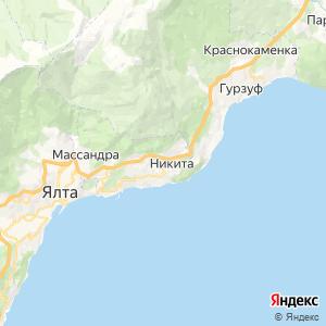 Карта города Никиты