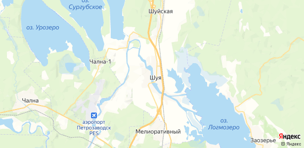 Шуя на карте