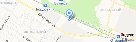 Бежица-тара на карте Брянска