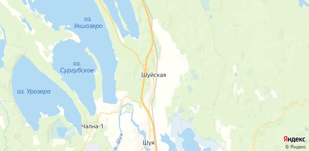 Шуйская на карте
