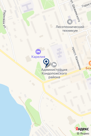ГОСТИНИЦА КИВАЧ на карте Кондопоги