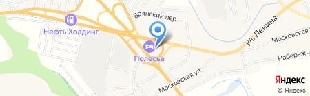 Полесье на карте Супонево