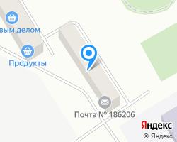 Схема местоположения почтового отделения 186206