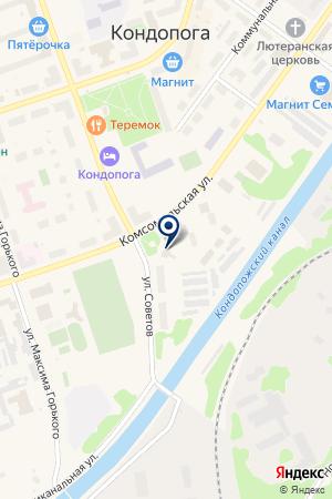 ГОСТИНИЦА КОНДОПОГА на карте Кондопоги