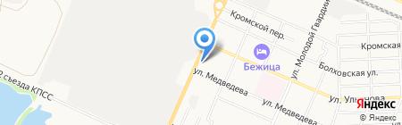 Подшипники на карте Брянска