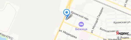 Сеть мебельных магазинов на карте Брянска
