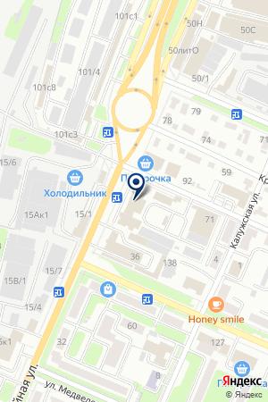 СТУДИЯ НАТЯЖНЫХ ПОТОЛКОВ - PULITO на карте Брянска