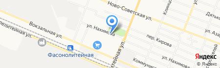 Мастерская шиномонтажа на ул. Нахимова на карте Брянска