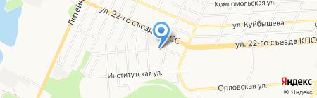 Брянский бетон на карте Брянска