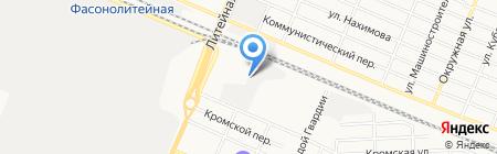Мальцов-Брянск на карте Брянска