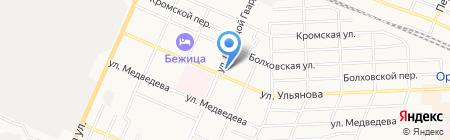 Б\/Утик на карте Брянска