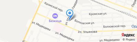 Парикмахерская на ул. Молодой Гвардии на карте Брянска
