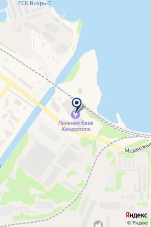 КОНДОПОЖСКАЯ на карте Кондопоги