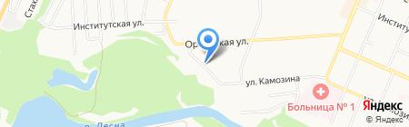 Сапфир на карте Брянска
