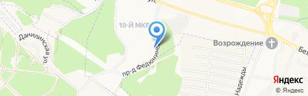 Собор на карте Брянска