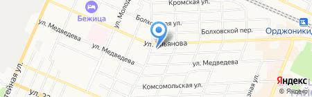 Грузотрофф на карте Брянска