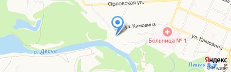 Деко на карте Брянска