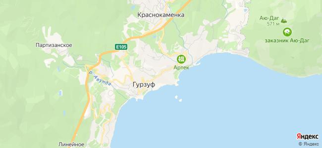 Гурзуф - объекты на карте