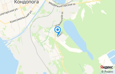 Местоположение на карте пункта техосмотра по адресу Респ Карелия, г Кондопога, проезд Промышленный