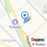 Терве на карте Петрозаводска