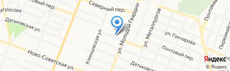 Библиотека №12 на карте Брянска