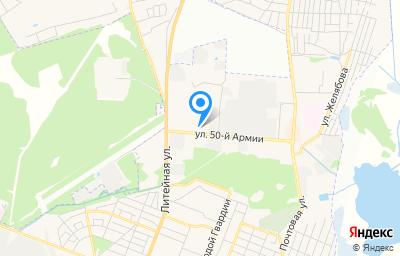 Местоположение на карте пункта техосмотра по адресу г Брянск, ул 50-й Армии, д 1