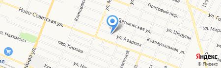 Автостоянка на ул. Азарова на карте Брянска
