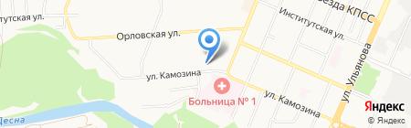 Банкомат Банк УРАЛСИБ на карте Брянска