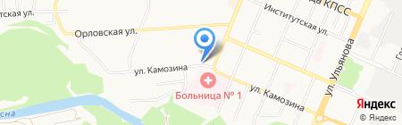 Нотариус Бушуева С.А. на карте Брянска
