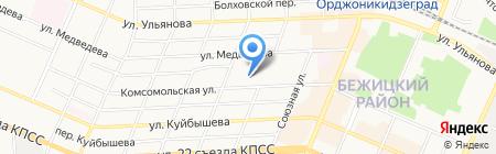 Мастерская по ремонту обуви на Комсомольской на карте Брянска