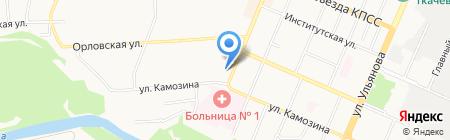 Мастерская по ремонту обуви на ул. 3 Интернационала на карте Брянска