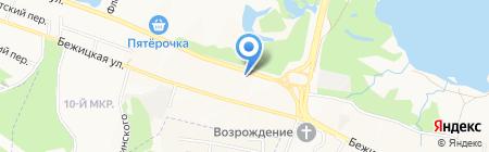 АЗС Газпром на карте Брянска